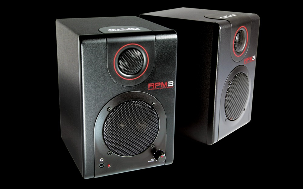 m audio speakers akai rpm3 active studio monitors with usb