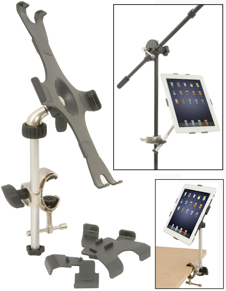 chord music stand mount for ipad getinthemix. Black Bedroom Furniture Sets. Home Design Ideas