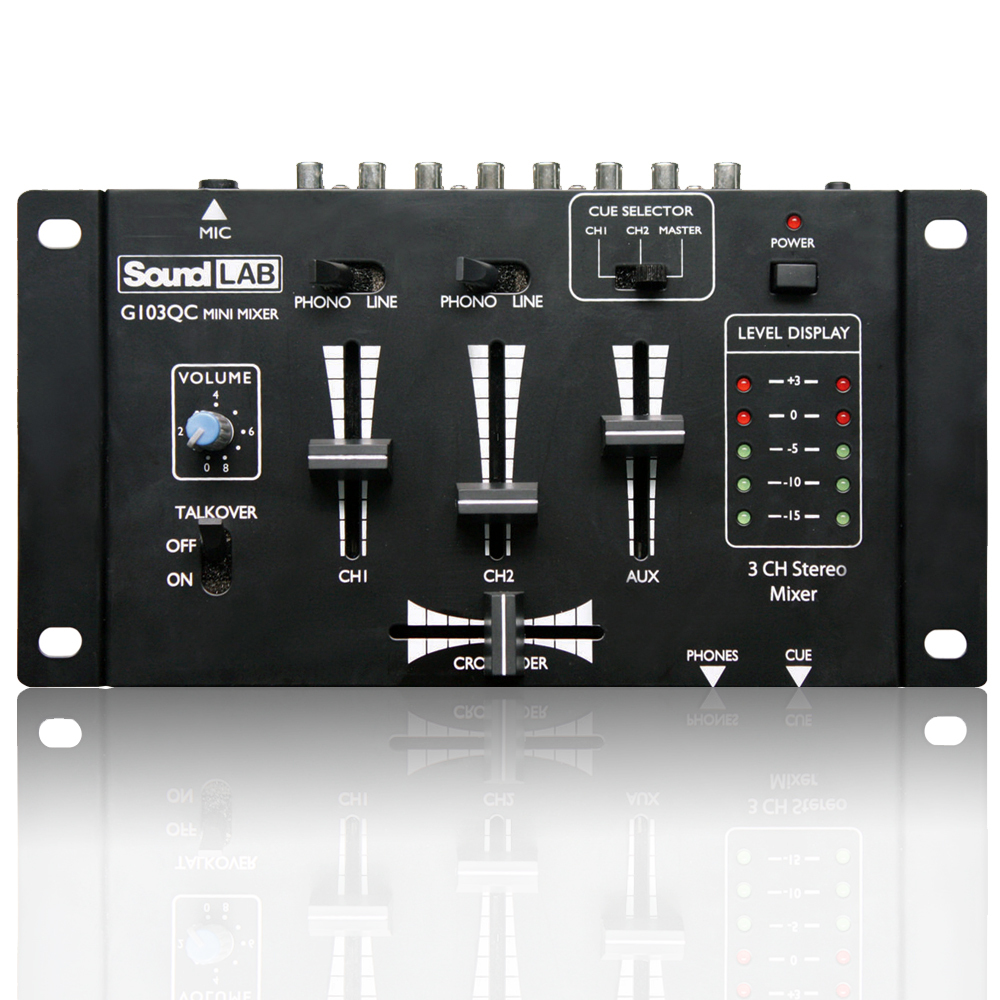 Soundlab Mini Mixer With Crossfader