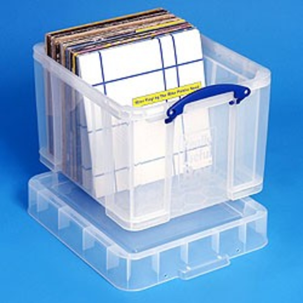 35 Litre XL Really Useful Box Clear 95 LP Vinyl Storage  sc 1 st  GetInTheMix & 35 Litre XL Really Useful Box Clear Aboutintivar.Com