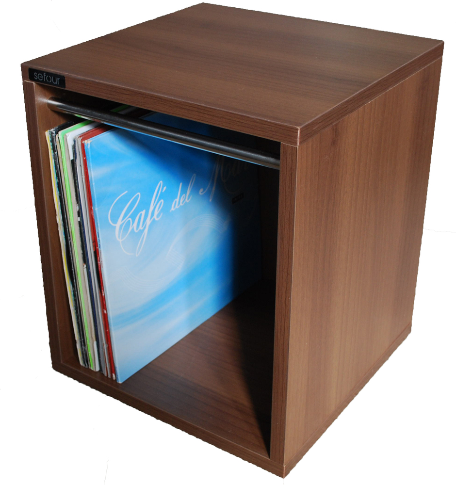 Sefour Vinyl Record Carry Box 60 Tobacco Walnut (VC030-909)  sc 1 st  GetInTheMix & Sefour Vinyl Record Carry Box