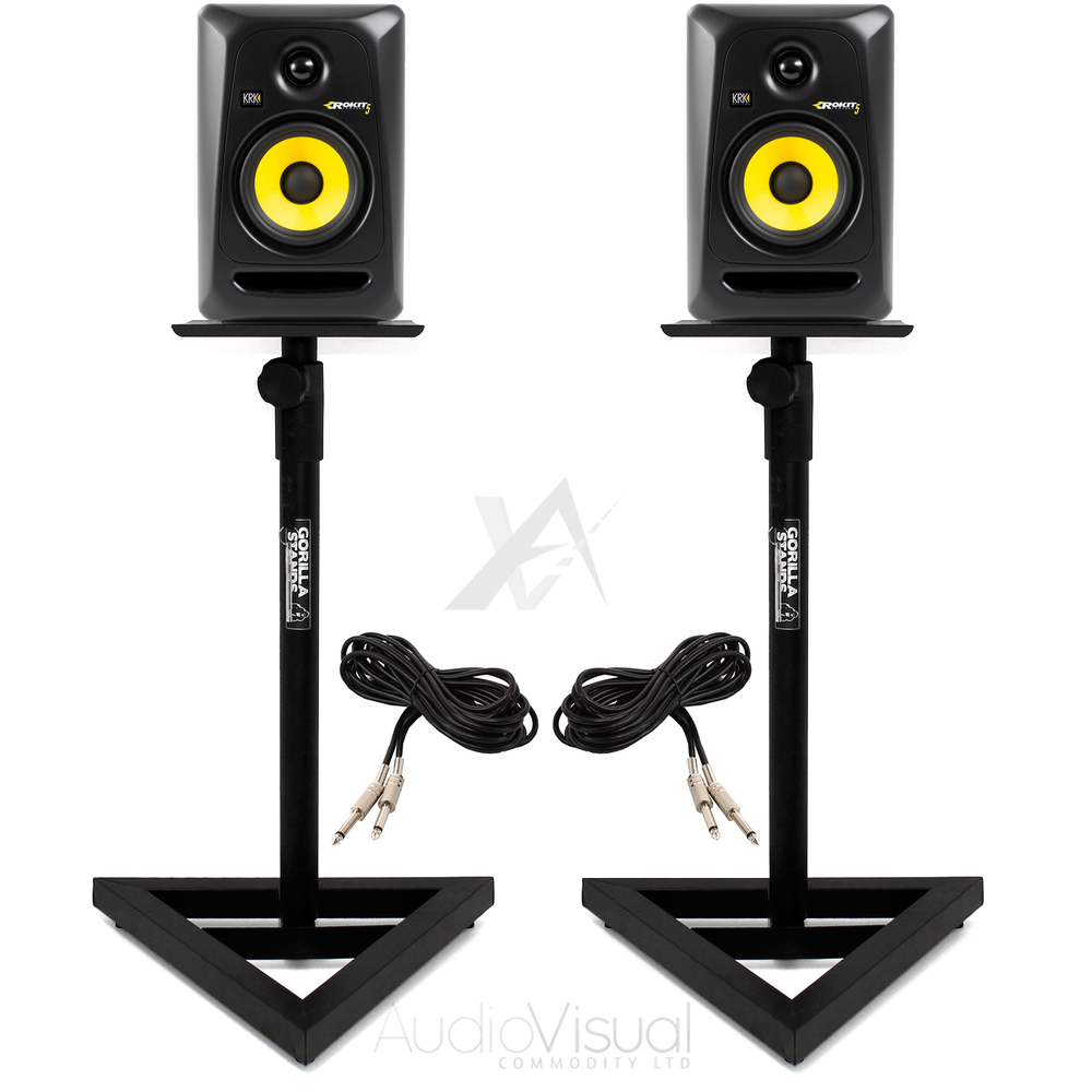 Krk Rokit Rp5 G3s With Monitor Stands Amp Cables Getinthemix
