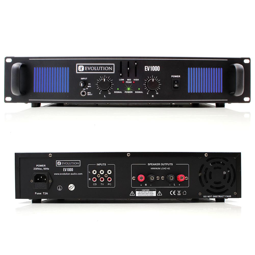 evolution audio ev1000 power amplifier. Black Bedroom Furniture Sets. Home Design Ideas