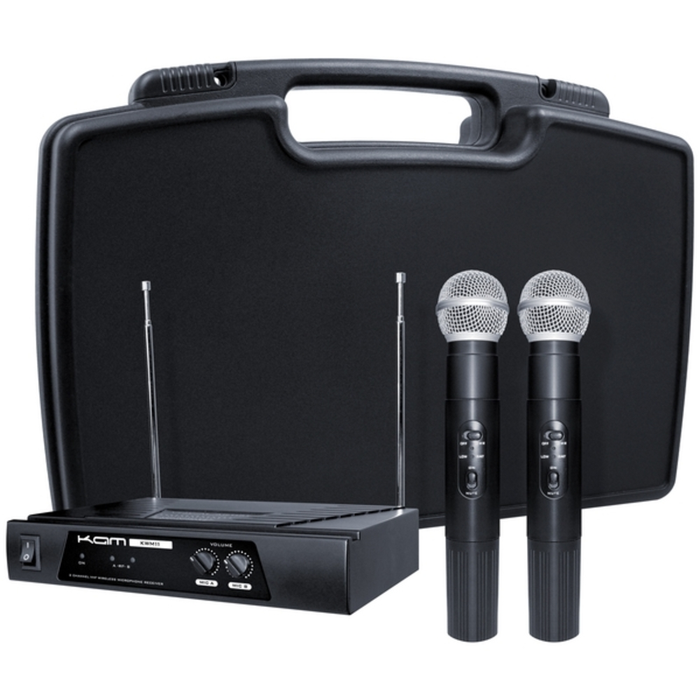kam kwm11 vhf dual wireless microphone system. Black Bedroom Furniture Sets. Home Design Ideas