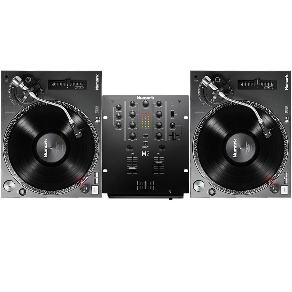 Numark TT250 USB Turntables & Numark M2 Mixer Package