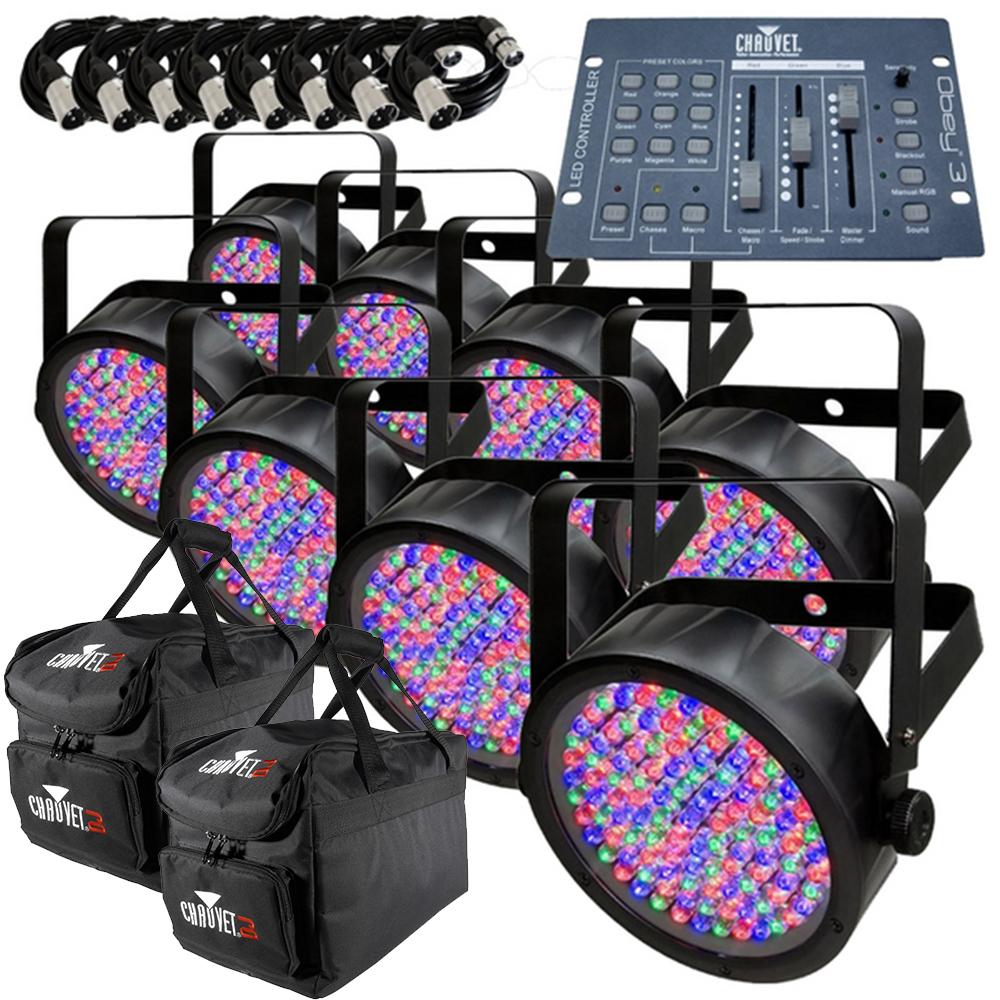 8x chauvet slimpar 56 obey 3 controller package getinthemix. Black Bedroom Furniture Sets. Home Design Ideas