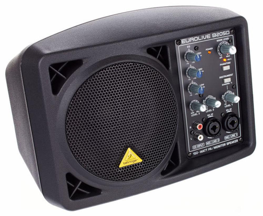 behringer b205d powered monitor pa speaker. Black Bedroom Furniture Sets. Home Design Ideas