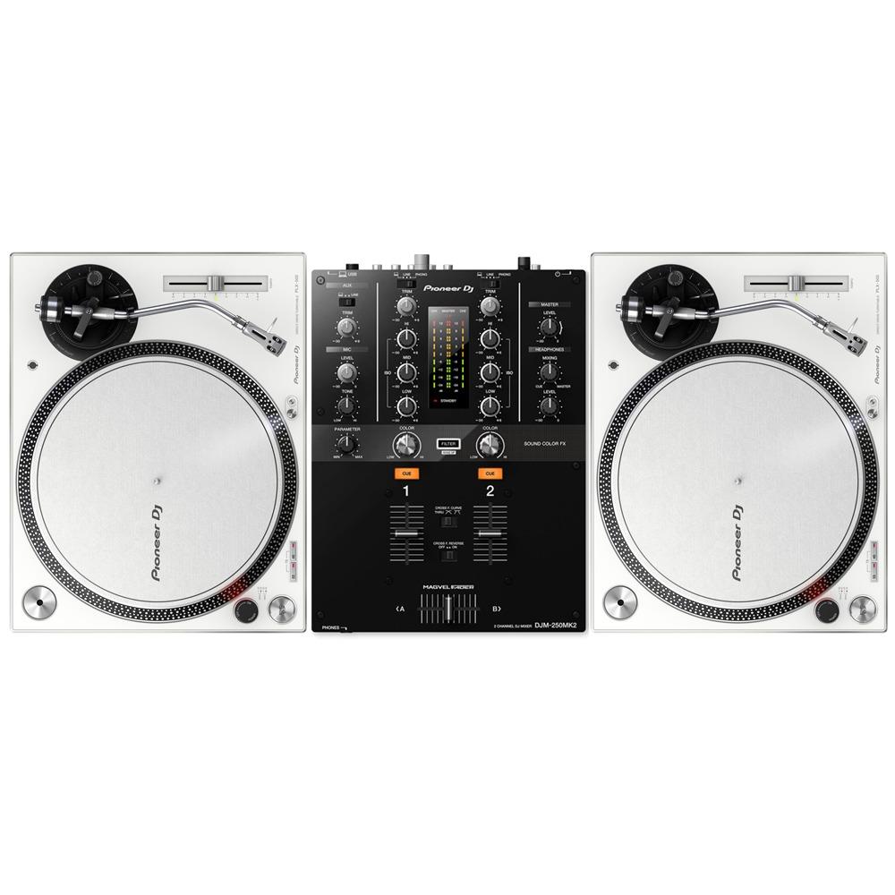 c1e8501620f Pioneer DJ PLX-500 White   DJM-250MK2 Mixer Package