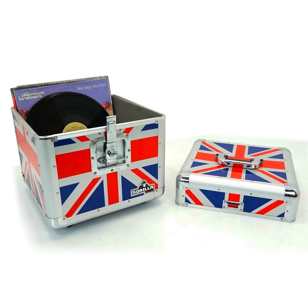 Gorilla LP100 12  LP Vinyl Record Storage Box Union Jack  sc 1 st  GetInTheMix & Gorilla LP100 12