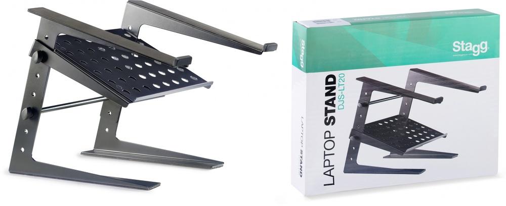 Stagg Professional DJ Desktop Laptop Stand w//Lower Support Plate DJS-LT20