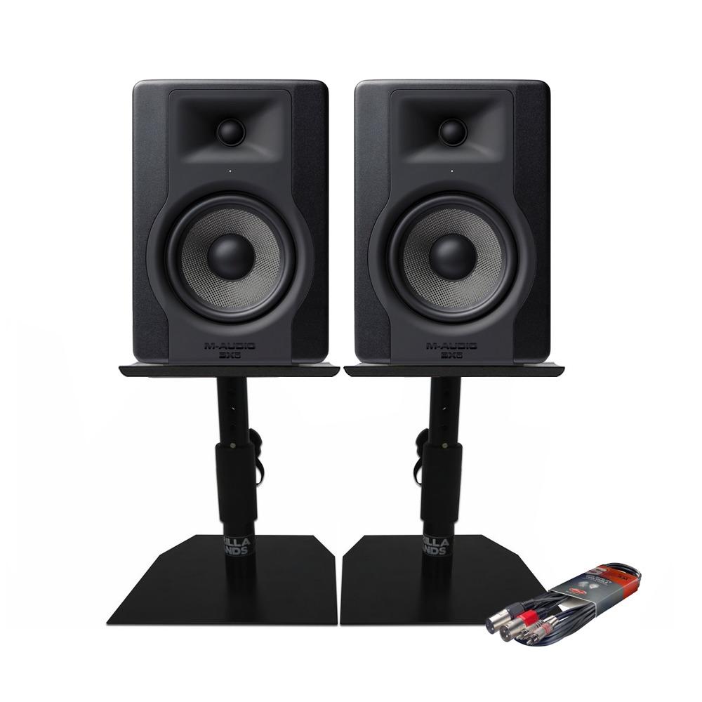 M Audio Bx5 D3 Monitors With Desktop Stands Cable