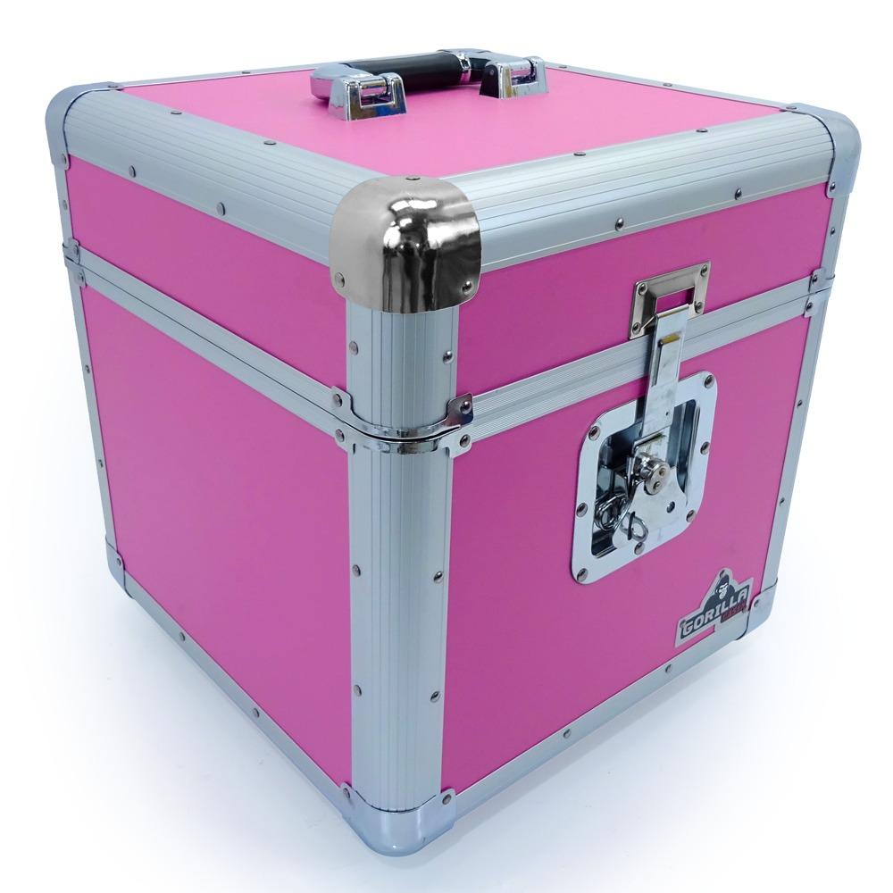 Gorilla Vinyl 12 Quot Lp Record Storage Case Holds 100 Pink