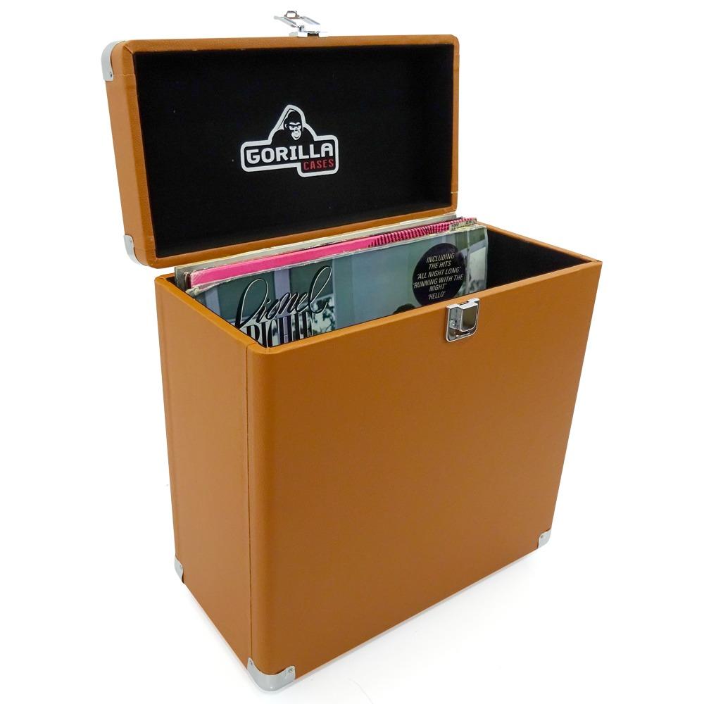 Gorilla Lp 45 Retro 12 Quot Vinyl Record Storage Box Tobacco