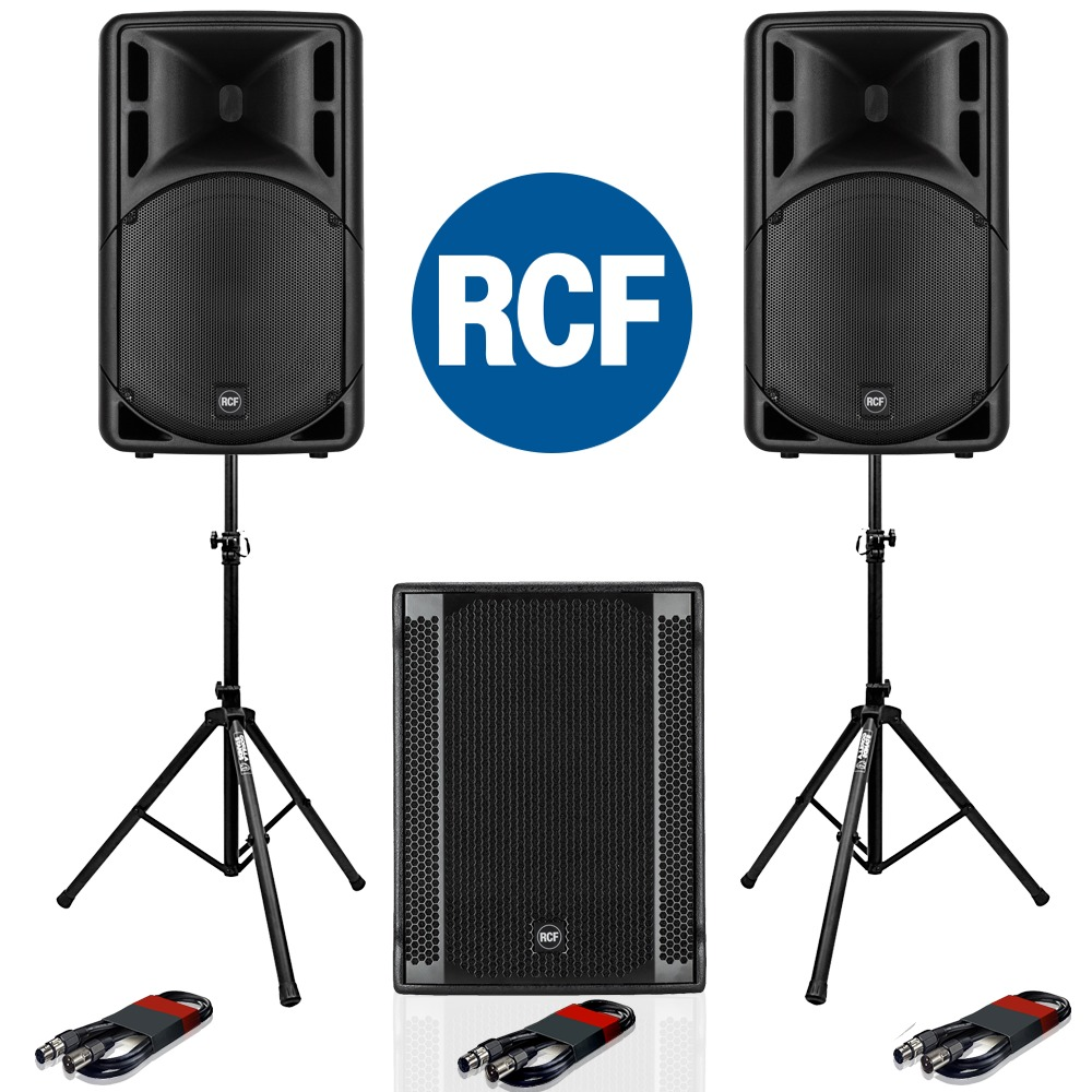 RCF Art 315-A MK4 Speaker (Pair) + RCF SUB 705-AS II Subwoofer