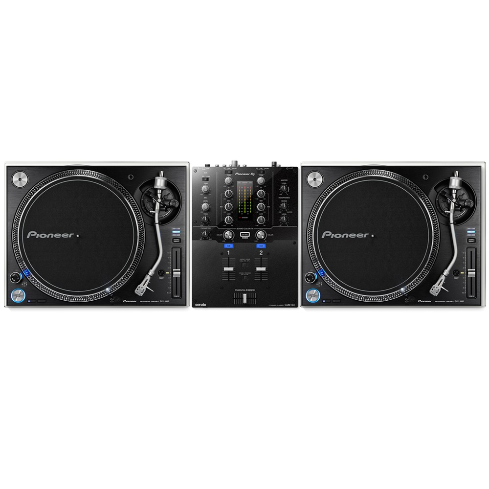 pioneer plx 1000 djm s3 mixer package. Black Bedroom Furniture Sets. Home Design Ideas