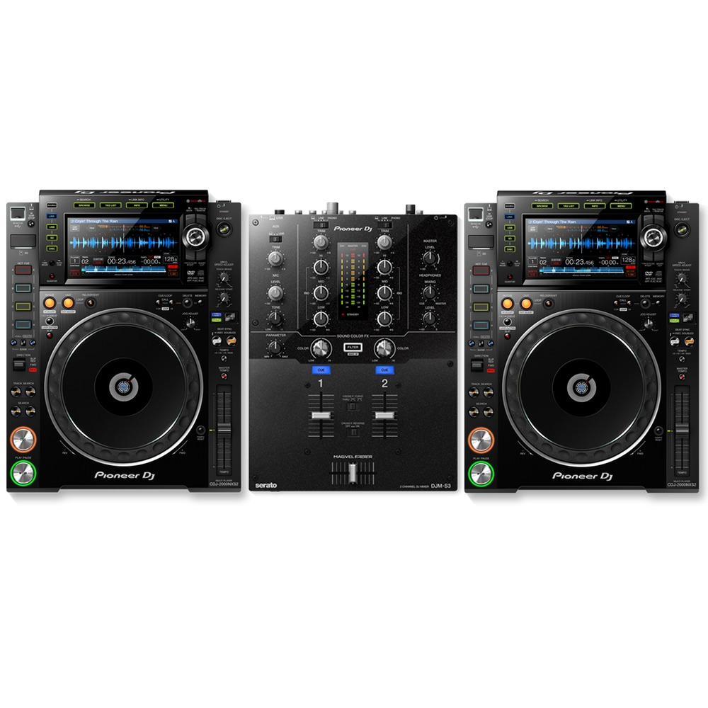 pioneer cdj 2000 nxs2 djm s3 package. Black Bedroom Furniture Sets. Home Design Ideas