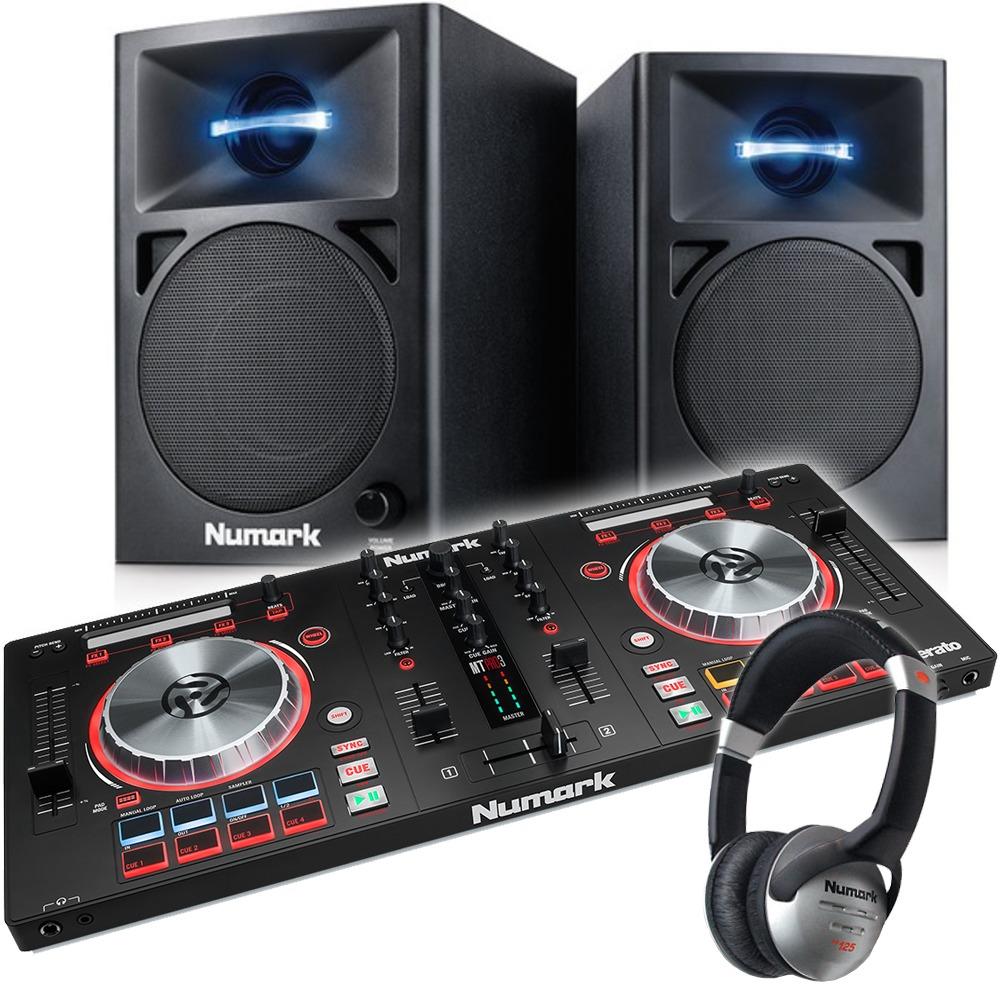 numark mixtrack pro 3 with numark n wave 360 speaker package getinthemix. Black Bedroom Furniture Sets. Home Design Ideas