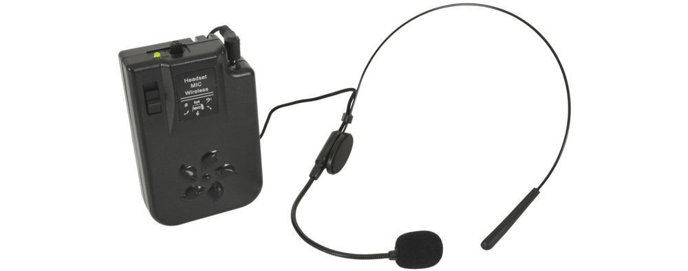 174.1 MHz VHF Head Band Radio Microphone System
