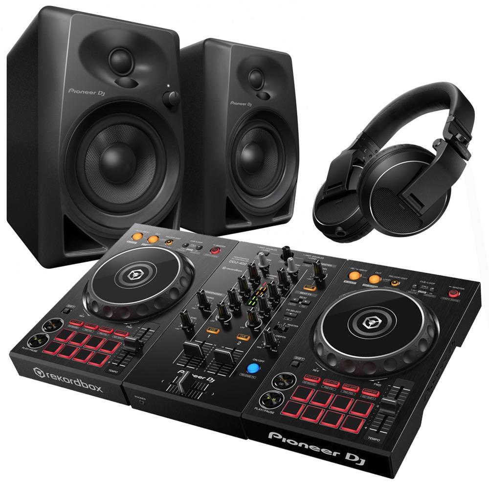 Pioneer DDJ-400 with DM-40 Monitors and HDJ-X5 Headphones ... 8db1ee7748