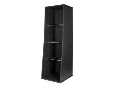 Sefour Vinyl Storage Tower Black