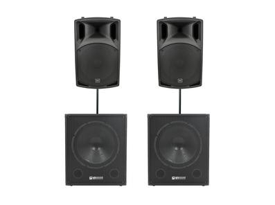 QTX Sound QX12A Speakers & QT15SA Subwoofers