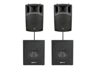 QTX Sound QX15A Speakers & QT15SA Subwoofers