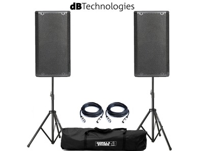 dB Technologies Opera 15 Pair with Stands & Cables