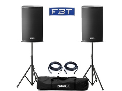 FBT X-Lite 10A (Pair) with Stands & Cables