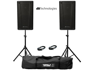db Technologies B-Hype 12 (Pair) with Stands & Cables