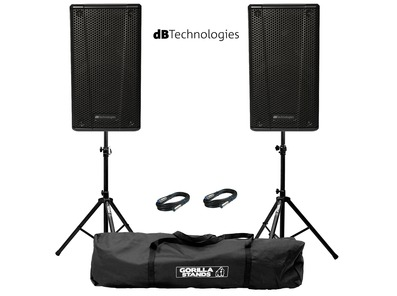 db Technologies B-Hype 15 (Pair) with Stands & Cables