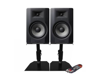M-Audio BX8 D3 Monitors with Desktop Stands & Cable