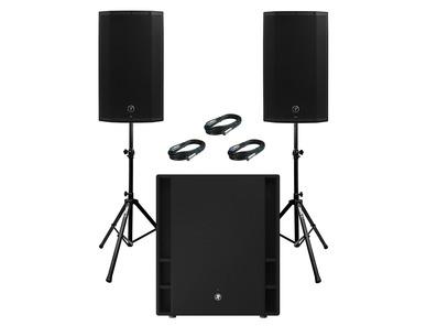 2x Mackie Thump 12A V4 Speakers & Mackie Thump 18S