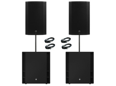 Mackie Thump 15A V4 Speakers (x2) & Thump 18S Subwoofers (x2)