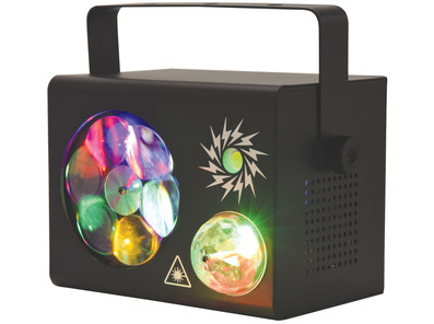 QTX GOBO FIREFLASH 4-in-1 LED & Laser Effect