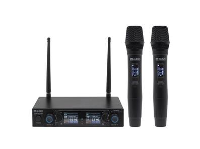 W Audio DM 800H Twin Handheld UHF Microphone System