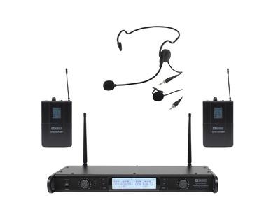 W Audio DTM 600 Twin Beltpack Diversity Microphone System