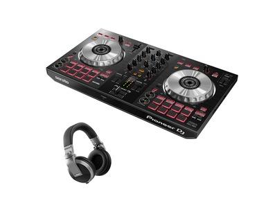 Pioneer DJ DDJ-SB3 & Pioneer HDJ-X5 Headphones