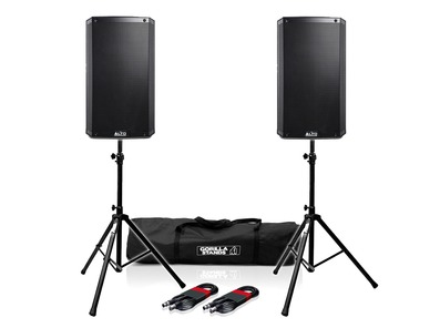 Alto TS310 (Pair) with Stands & XLR Cables