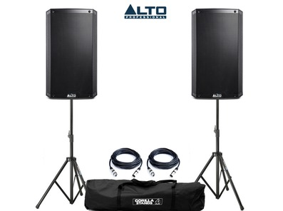 Alto TS312 with Stands & XLR Cables