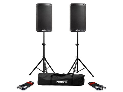Alto TS308 (Pair) with Stands & XLR Cables