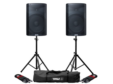 Alto TX215 (Pair) with Stands & Cables Package