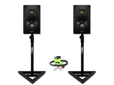 Adam Audio T7V with GSM-100 Stands & Cable Package