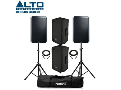 Alto TS315 (Pair) with Stands, Speaker Covers & Cables