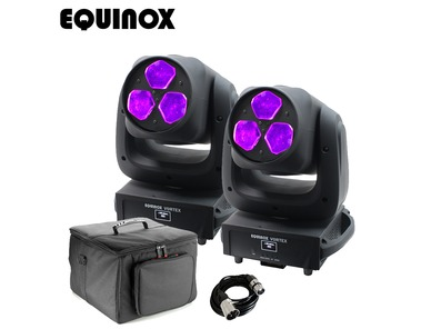 Equinox Vortex (Pair) with Carry Bag and DMX Cable