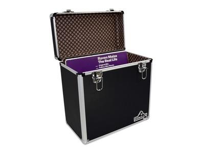 """Gorilla LP50 12"""" Vinyl Storage Box Case (Black)"""
