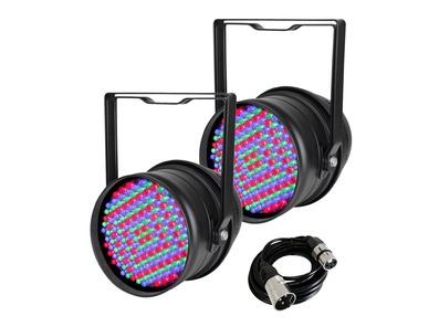 2x Equinox LED Par 64 & DMX Cable