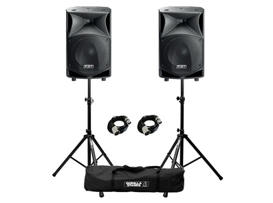 FBT JMaxX 112A (Pair) with Stands & Cables