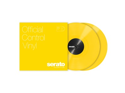 Serato 12 inch Control Vinyl Standard Colours (Pair) Yellow