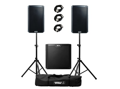 Alto TS310 (Pair) & TS312S with Stands & Cables