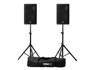 Yamaha DXR8 MkII (Pair) with Stands and XLR Cables